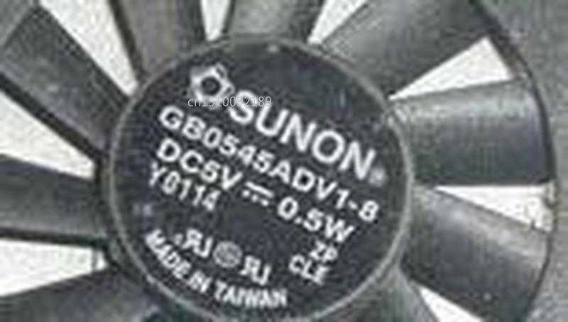 For SUNON GB0545ADV1-8 GB0545ADV1 8 DC5V 0.5W 2pin 2wire 4507 45x45x7mm Cooling Fan
