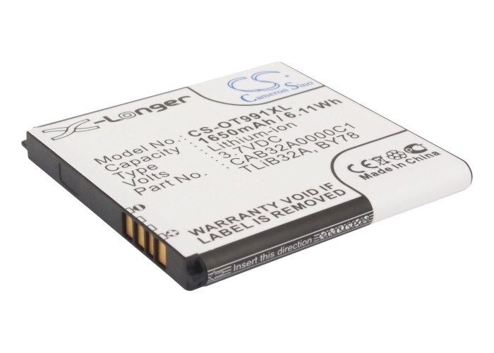 UPGRADE Cameron Sino Battery For <font><b>Alcatel</b></font> CAB32A0000C2 One Touch <font><b>6010</b></font>,One Touch 6010D,One Touch 916 1650mAh / 6.11Wh image
