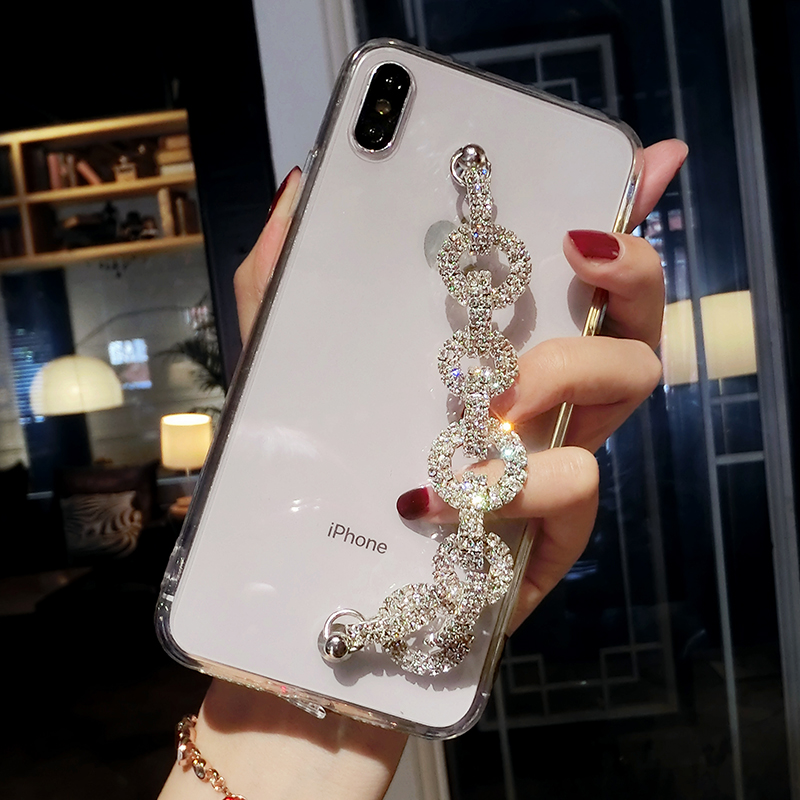Mate 30 <font><b>Pro</b></font> <font><b>Case</b></font> Lady Bling <font><b>Rhinestone</b></font> Diamond Bracelet Chain Crystal <font><b>Case</b></font> For <font><b>Huawei</b></font> P10 P20 P30 <font><b>Pro</b></font> Lite Honor 9i 10 <font><b>20</b></font> 9x <font><b>Pro</b></font> image