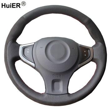 DIY Car Steering Wheel Cover Braid on the Steering wheel Volant Suede For Renault Koleos 2009-2013 2014 2015 2016 Samsung QM5