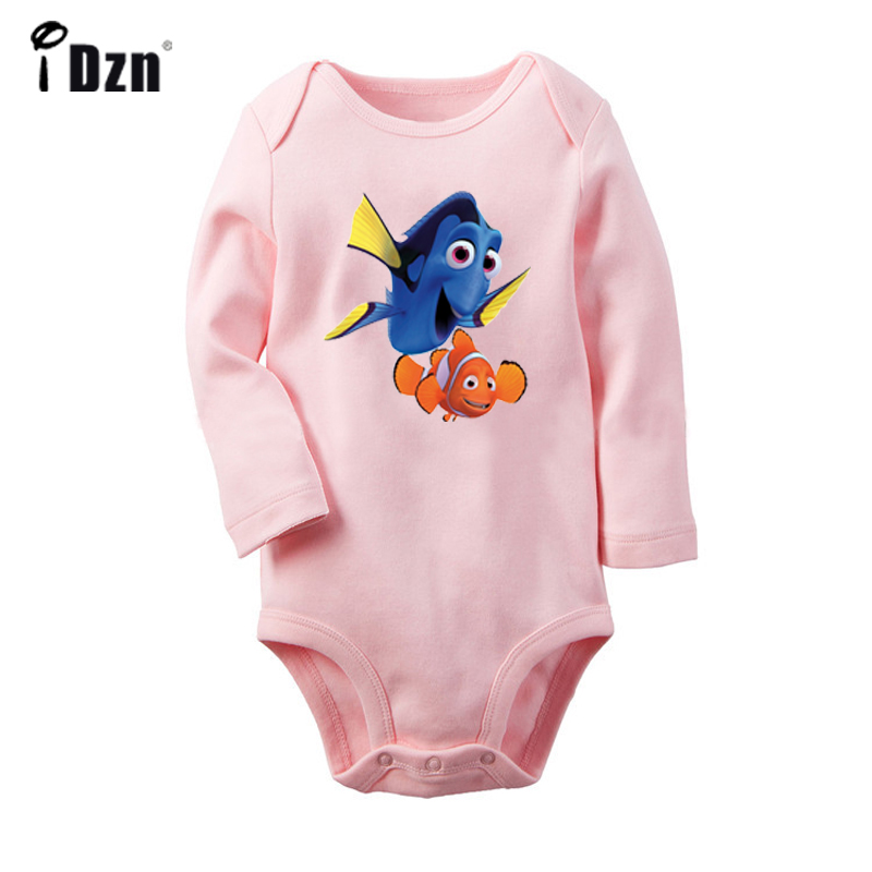 Finding Nemo Regal Blue Tang Dory Clownfish Marlin Nemo Newborn Baby Bodysuit Toddler Onesies Jumpsuit Cotton Clothes Gift