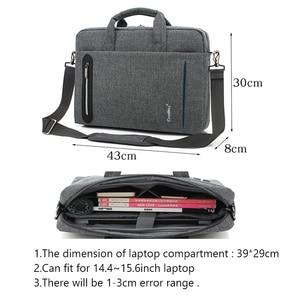 Image 2 - 15 inch laptop bag 15.6  Waterproof Nylon 15.4  laptop shoulder bag man business bag Messenger bag for macbook PRO