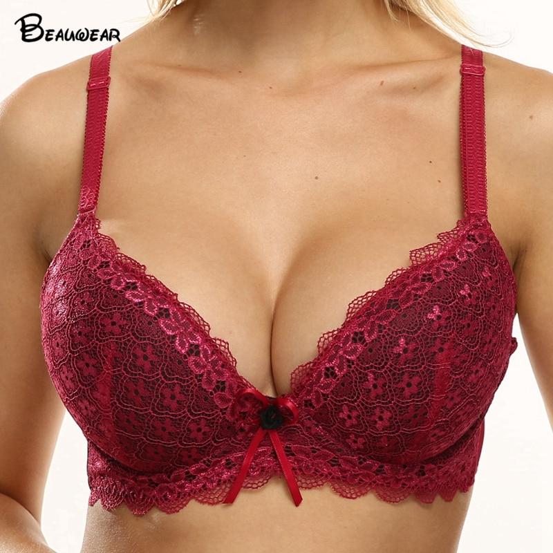 Bra big boobs pics Beauwear Women Add 2 Cup For B C Cup Bra Big Boobs Women Underwear Sexy Padded Up Lift Breast Underwire Ladies Bow Brassiere Bra Bras Aliexpress