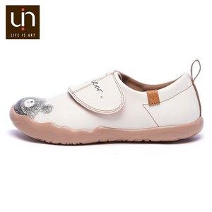 Image 5 - UIN דוב קטן עיצוב ילדים נעליים יומיומיות מיקרופייבר עור לבן נעלי ספורט עבור בנים/בנות אופנה נעלי ילדי נוחות דירות