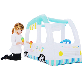 Plastic inflatable toy house for infants square Inflatable Pool Toy sand pool indoor ocean ball pool
