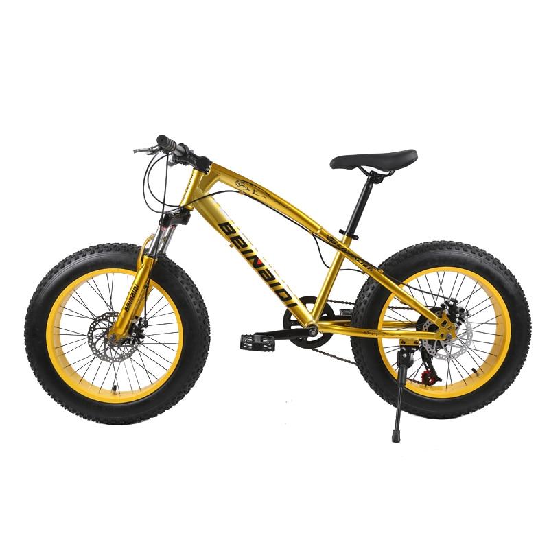 Permalink to 20 inch fat bike 4.0 fat tire bicycle children beach snow bike 7/21/24/27 speed mountain bicycle for kid dual disc brake  bike