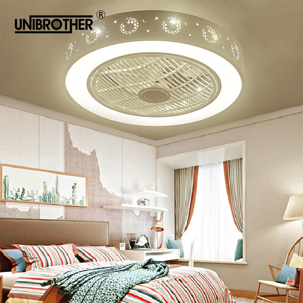 Ventole 55 centimetri ha condotto la lampada ventilatore a soffitto con la luce lampade camera da letto di calcio camera dei bambini casa ristorante 40w tre colori che cambia