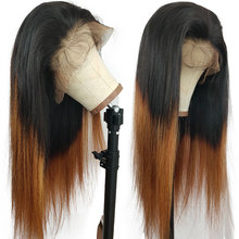 Wigs Human-Hair T-Lace Brazilian Straight for Women Silky Pre-Plucked 1b-30