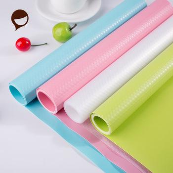 Wielokrotnego użytku półka liniowa papier przylepny szafka mata szuflada mata odporna na wilgoć wodoodporny odporny na kurz antypoślizgowe podkładki na stół tanie i dobre opinie Moisture-proof Drawer Paper