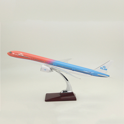 47CM 777 B777 KLM Royal Dutch Airlines Model Diecast Resin Plane for Collection Airplane Plane Model Toys Souvenri Show Display