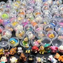 50 Stks/partij 28Mm Diameter Transparante Plastic Bal Capsule Speelgoed Met Binnenkant Rubber Of Plastic Figuur Poppen Voor Automaat