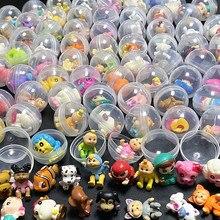 Lote de 50 unidades de cápsulas de plástico transparente de 28mm de diámetro, juguetes con figuras de goma o plástico para máquinas expendedoras