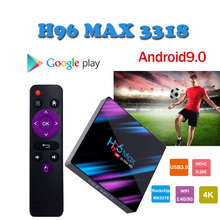 2019 smart tv box Android 9.0 H96 Max-3318 4K Media Player 2.4G&5G Wifi BT4.0 Max Set Top Box support iptv italia