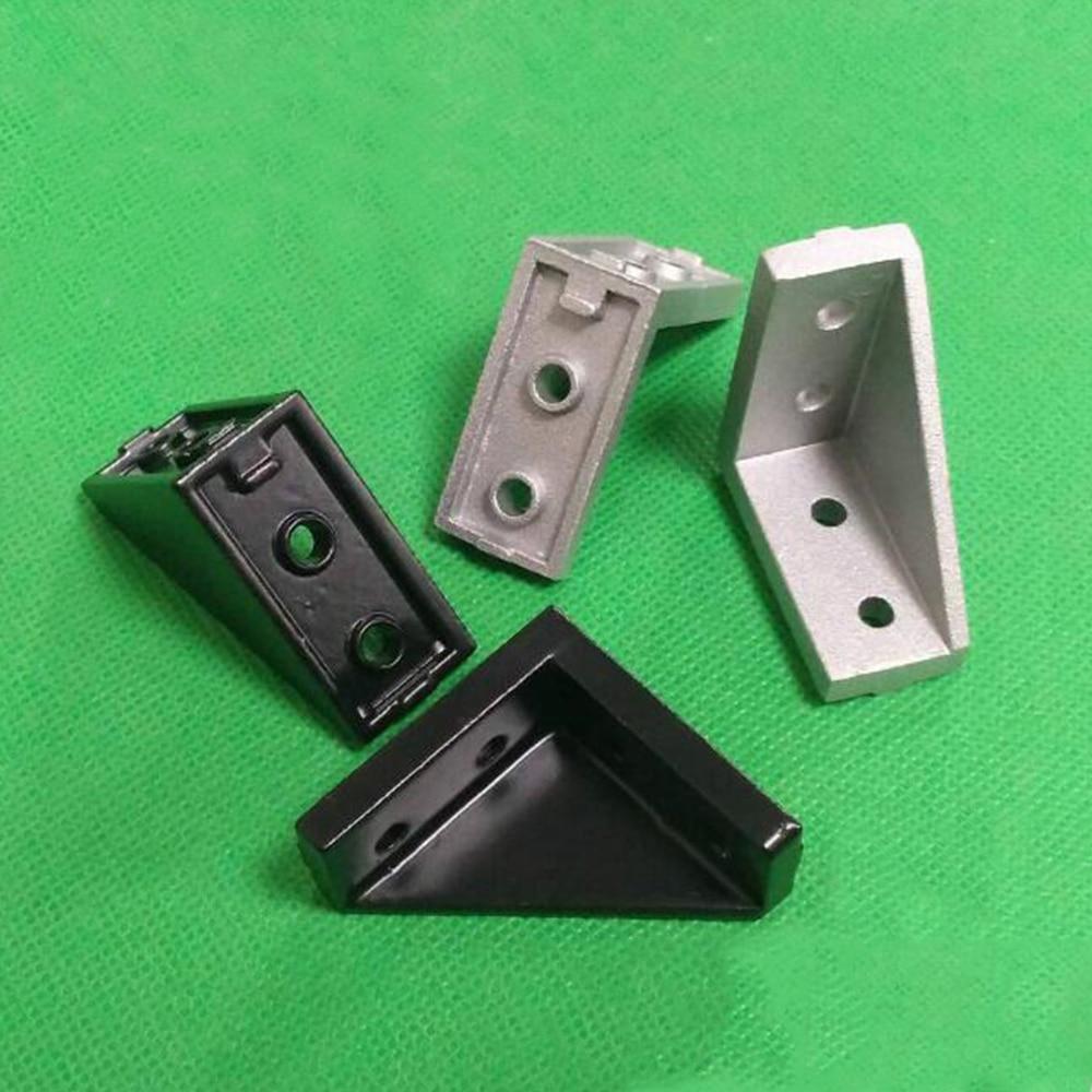 Угловой фитинг 5 шт./лот 2040, угловой алюминиевый коннектор 20x40 л, крепежный кронштейн, подходит для промышленного алюминиевого профиля 2040