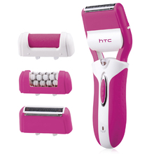 купить Htc 3 In 1 Lady Shaver Epilator Women Female Shaving Machine Body Face Hair Removal Depilatory Bikini Trimmer Electric Callus Re дешево
