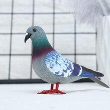 1/2 pçs simulação pombo cinzento dove modelo mini pássaros artificiais imitação animal presente fotografia adereços suprimentos de festa decoração para casa
