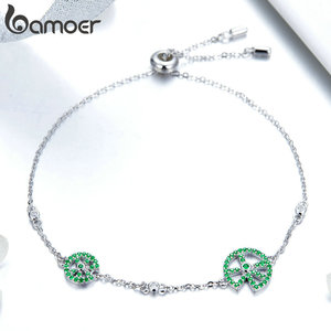 Image 4 - bamoer Funny Lotus Leaf Bracelet for Women Exquisite Design Sterling Silver 925 Jewelry Engagement Jewelry Gifts BSB006
