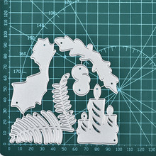 DiyArts Christmas Candle and Tree Metal Cutting Dies New 2019 Craft Scrapbooking Album Embossing Stencil Die Cut Decor