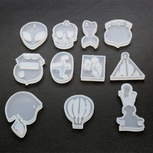 2019 New High Mirror DIY Crystal Epoxy Silicone Mold Handmade Pendant Keychain Making Hot Air Balloon Triangle Shape Molds
