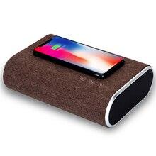 3 в 1 Bluetooth динамик Беспроводное зарядное устройство для Xiaomi быстрое зарядное устройство для Iphone 11 для телефона сабвуфер Функция касания экрана Банк питания