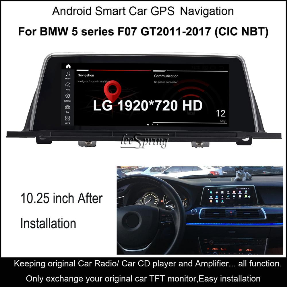 10.25 LG Screen 8-Core Android 10.0 4G +64G Car multimedia for BMW 5 Series F07 GT (2011-2017 CIC NBT option) image