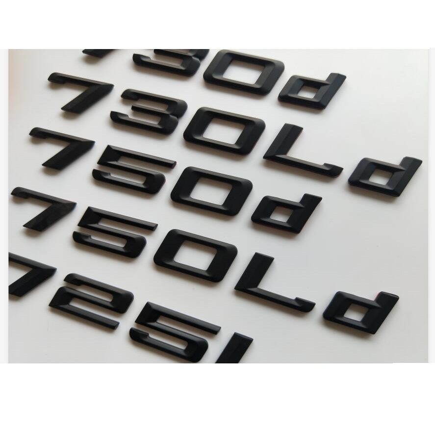 740d 740 d Boot Trunk Lid Chrome Emblem Badge Letters for BMW F01 F02 7-Series