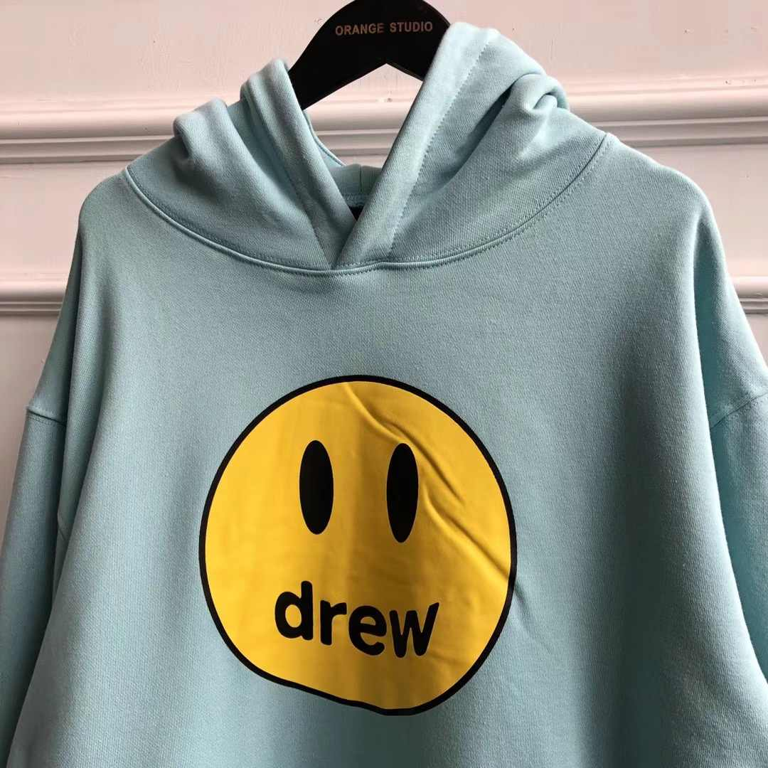 2020 새로운 색상 그냥 bieber 드류 하우스 미소 얼굴 인쇄 된 여성 남성 후드 티 셔츠 힙합 streetwear 남자 까마귀 풀 오버