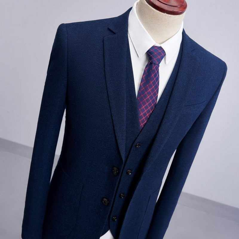 Uomini Vestiti Da Sposa 2020 Elegante Sposo Slim Fit Maschio 3 Pezzi del Vestito di Mutanda Cappotto Ultimi Disegni di Affari casual Abiti da Lavoro 4XL Nuovo