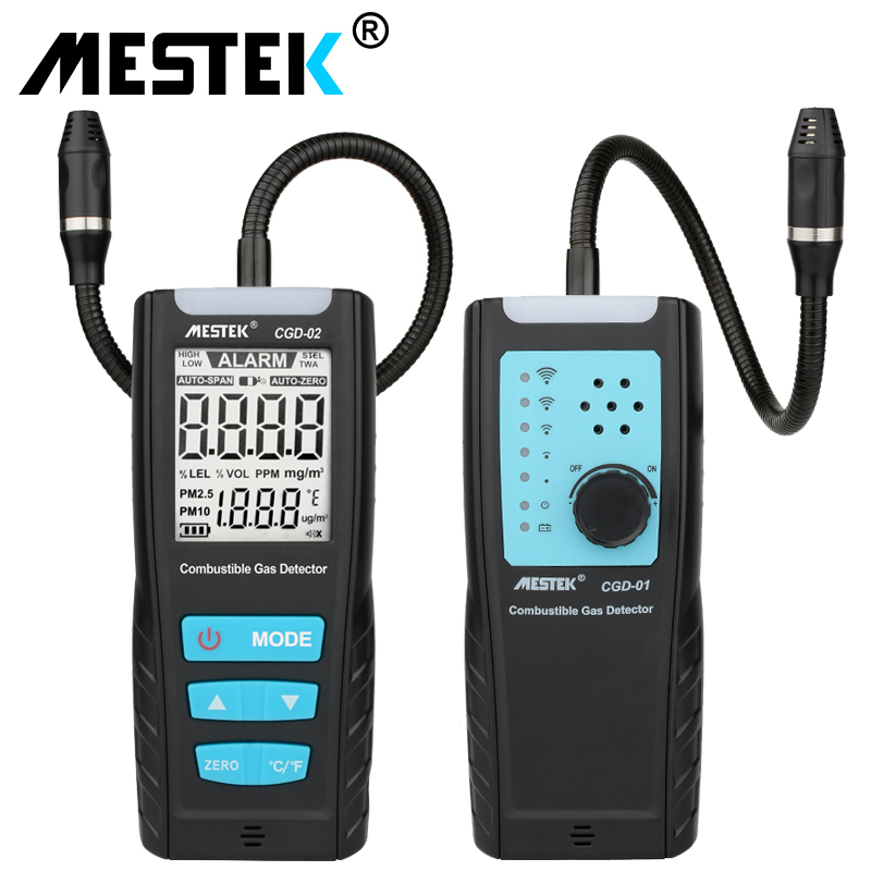 LCD Gas Analyzer Meter Automotive Combustible Gas Sensor Detector Air Quality Monitor Gas Leak Detector  with Sound Shock Alarm