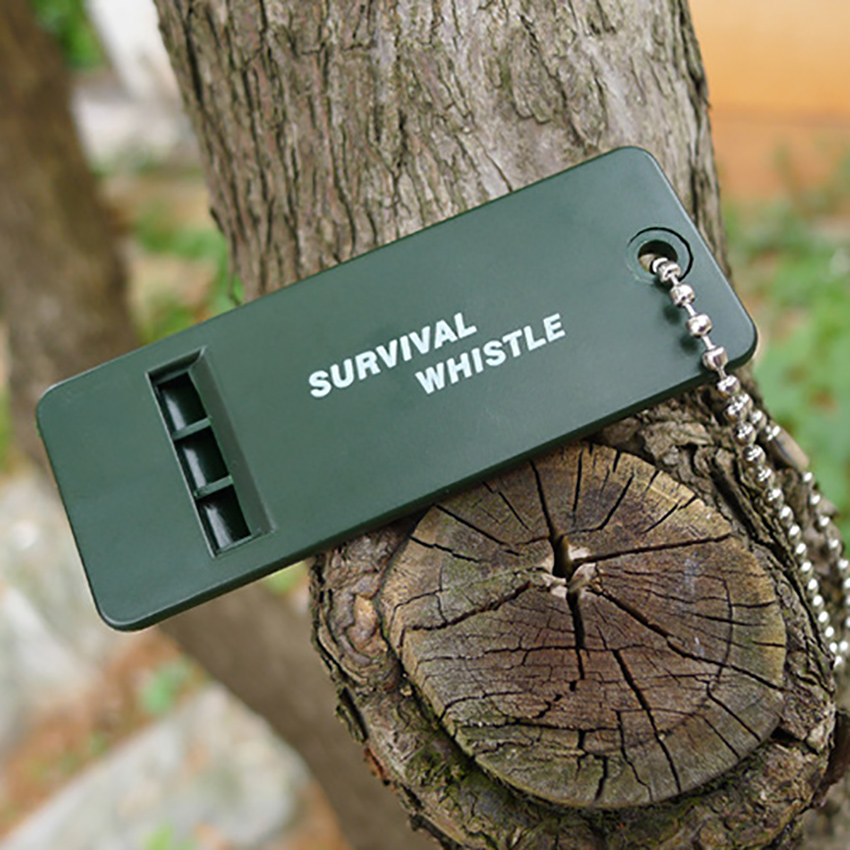 1pc Emergent Rescue Survive Signal Sound Whistle For Outdoor Camp Hike First Aid, Soccer Baseball Sport Coach Referee Whistle