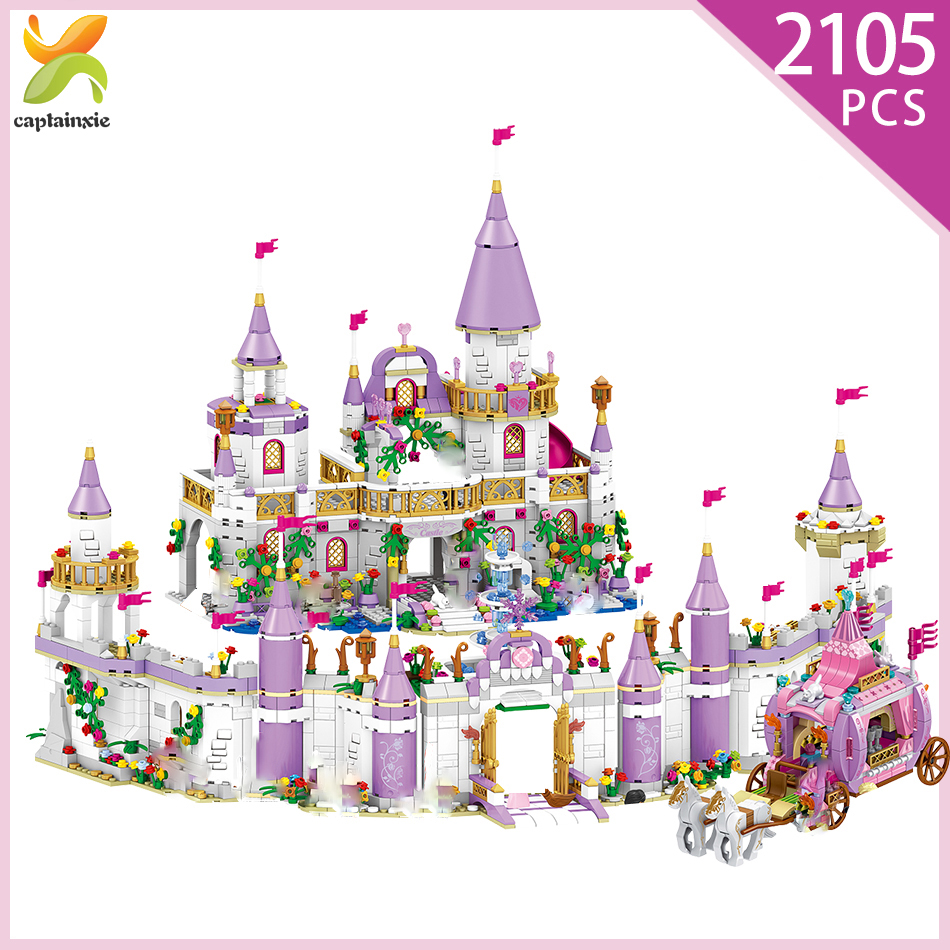Princes Windsor Castle Model Building Blocks Legoinglys Friend  Carriage Figures Educational City  Bricks Toys For Girl Children