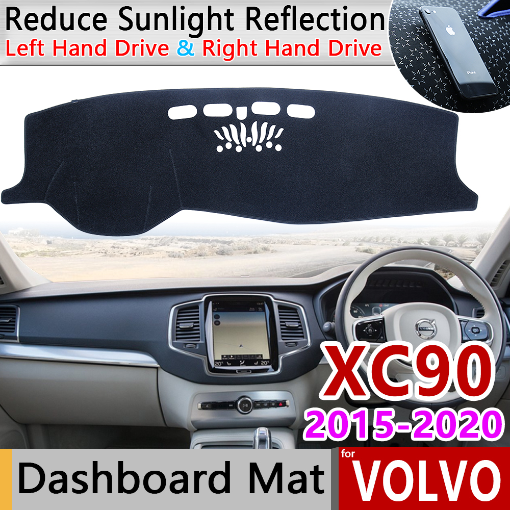 for <font><b>VOLVO</b></font> <font><b>XC90</b></font> 2015 <font><b>2016</b></font> 2017 2018 2019 2020 Anti-Slip Mat Dashboard Cover Pad Sunshade Dashmat Protect Carpet Car <font><b>Accessories</b></font> image