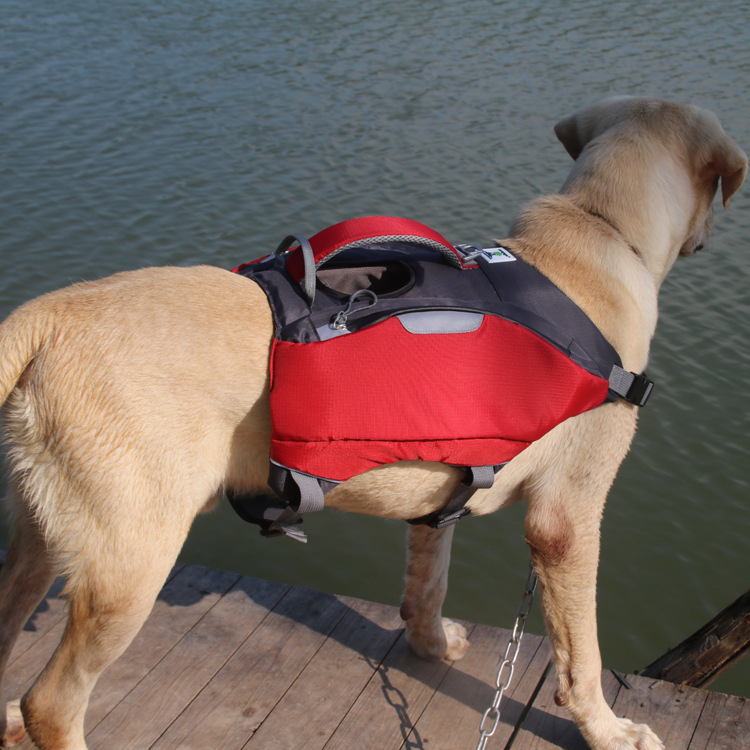 Pet Nursing Swimming Life Jacket Even Dog Backpack Dual Purpose New Style Pet Bag And Medium sized Dog Backpack a Generation of