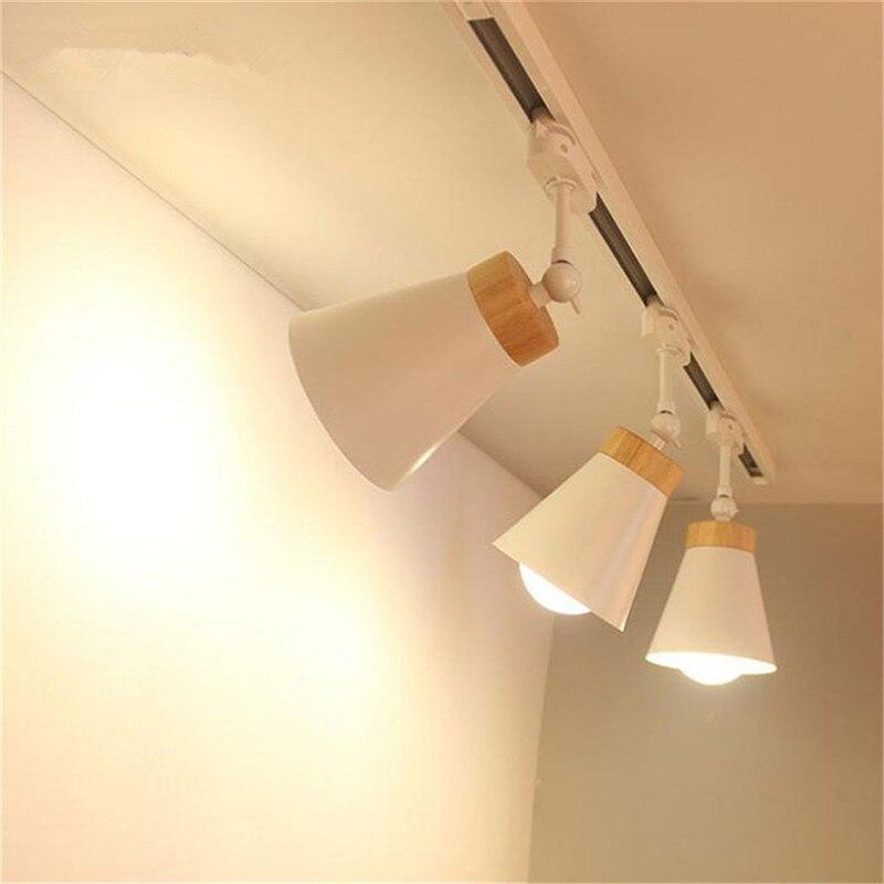 lampada de led com trilho e27 holofotes 04