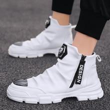New Fashion High Top Men's Vulcanized Shoes Brand