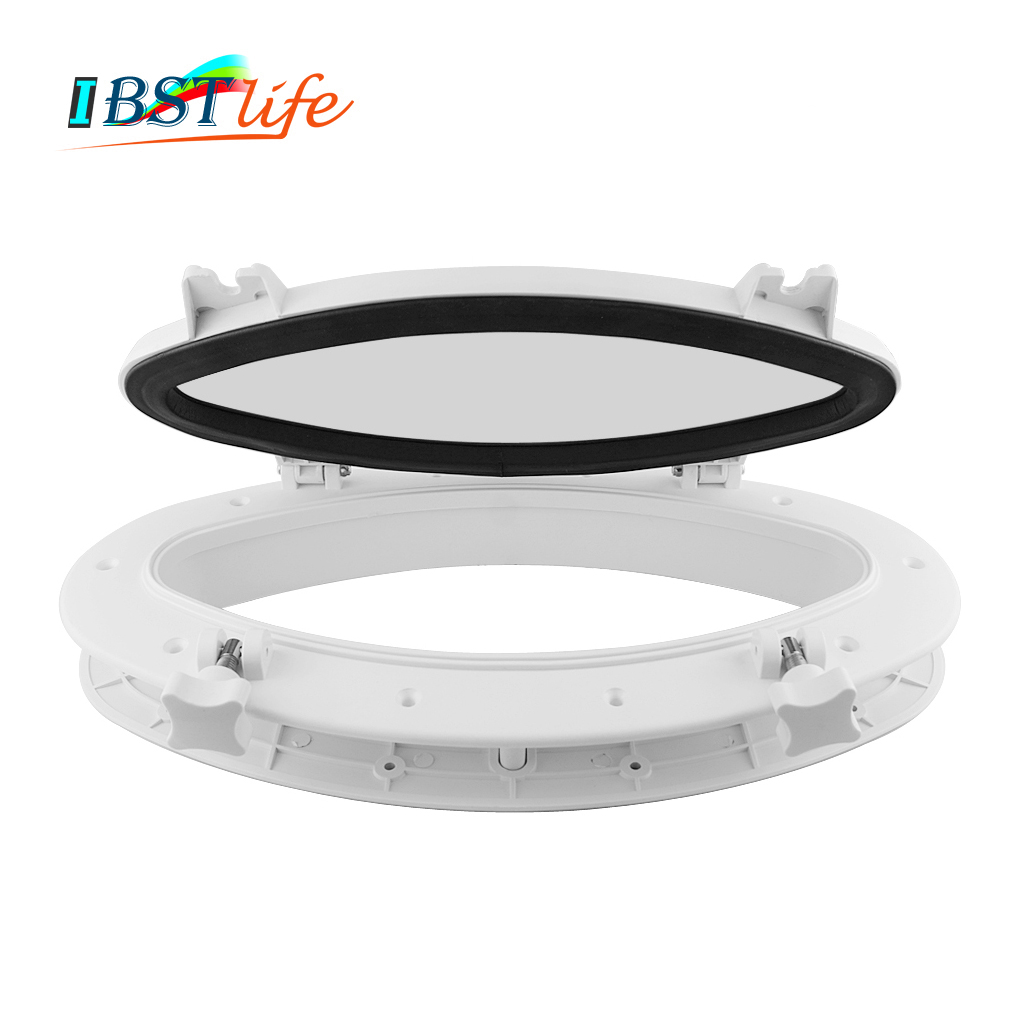 Marine <font><b>Boat</b></font> Yacht RV Oval Shape Porthole ABS Plastic Oval Hatches Port Lights Replacement <font><b>Windows</b></font> Port Hole Opening Portlight image