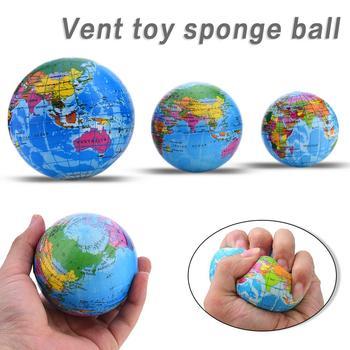 6-10CM PU Slime squash Sponge Ball divertido espuma saltarín bola Tellurion para adultos descompresión Mapa Mundial rebote juguetes educativos 4