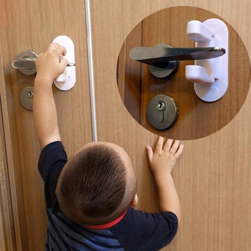 Cerradura De Seguridad Para Bebés Palanca De Puerta Hogar Niños Recién Nacidos Puertas De Protección Mango Universal Adhesivo Co