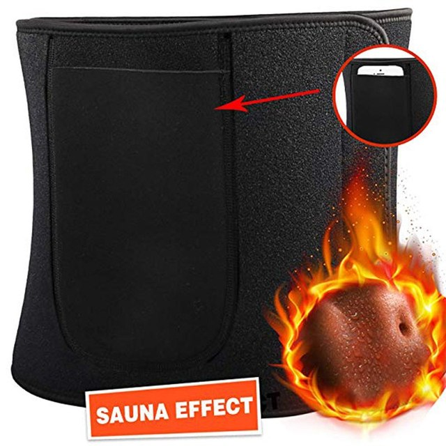 Sports Slimming Waist Trimmer Belt Weight Loss Sweat Band Wrap Fat Tummy Stomach Sauna Sweat Belt Rope Skipping Suit 2