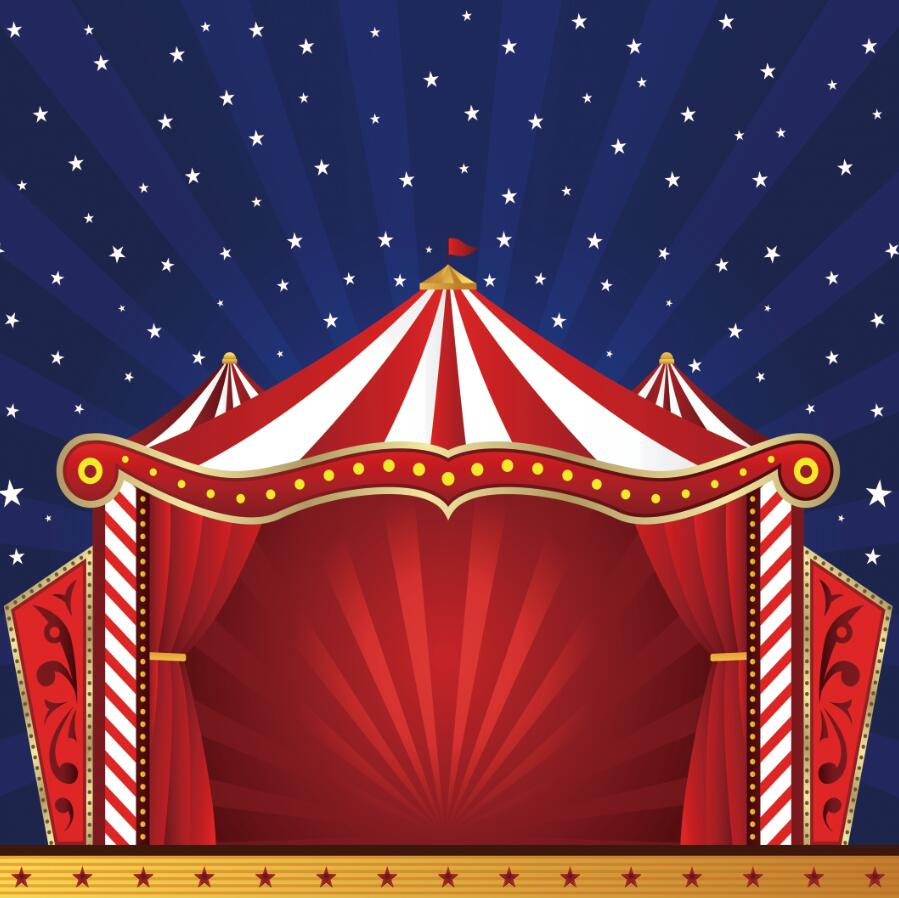Carnival Circus Party Backdrops Fireworks Baby Shower Photography Backgrounds