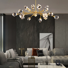 Crystal Chandelier Lustre Bedroom Brass Ceiling Dining-Gold Luxury Kitchen Led