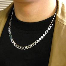 Мужское ожерелье, плетеное, твист, объемная, широкая, модная цепочка, ожерелье, сделай сам, ювелирный аксессуар, прочная цепочка, серебряная, 925, хип-хоп ювелирное изделие