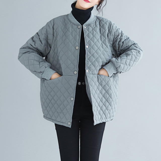 Aransue 2020 New Cotton Padded Coat Thickened Baseball Collar Jacket Short Design Outer Garment For Female Autumn Winter Top 3