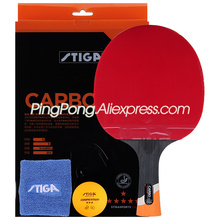 (Ship in Original Box) STIGA 6 Star Table Tennis Racket with Rubber Stiga 6 Star Carbon Ping Pong Bat Gift Set
