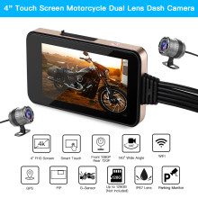 Blueskysea MT23 Motorcycle WiFi Camera Touch Screen GPS Dash Moto Dual DVR HD Dashcam1080P Night Vision Black Box