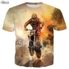 Drop Shipping Fashion Motocross T Shirt Mens Womens 3D Print Sports Car Short Sleeve Hip Hop Couple Wear Asian Size S 5XL Tops