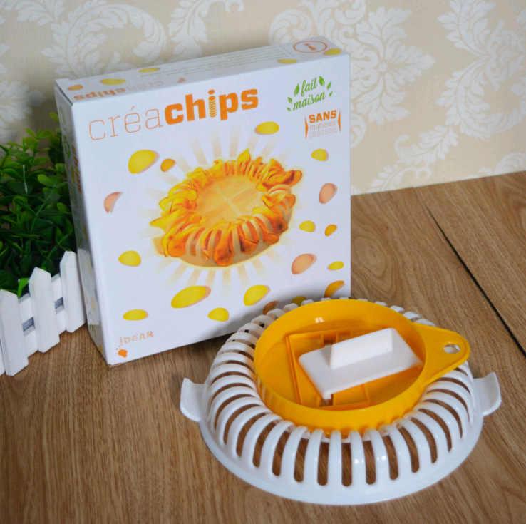 المطبخ Slicer بها بنفسك Slicer منخفضة السعرات الحرارية فرن الميكروويف خالية من الدهون رقائق البطاطس صانع المطبخ خبز أداة أطباق الخبز والمقالي رقائق الرف