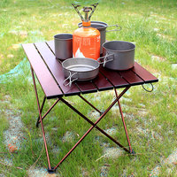 Camping-Table Foldable Ultra-Light Outdoor BBQ Picnic Traveling Aluminium-Alloy