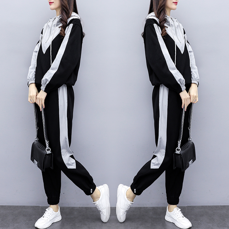 2020 Spring New Casual Tracksuit For Women Two Piece Set Hoodies Loose Sportswear 2 Pieces Running Sports Suit