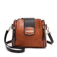 Women Messenger Bags Shoulder Vintage Bag Ladies Crossbody Bag PU Leather Handbag Tote Clutch Female Designer Bucket Bag Bolsas